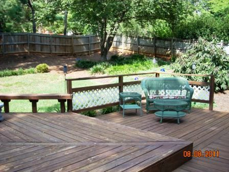 Deck and yard view